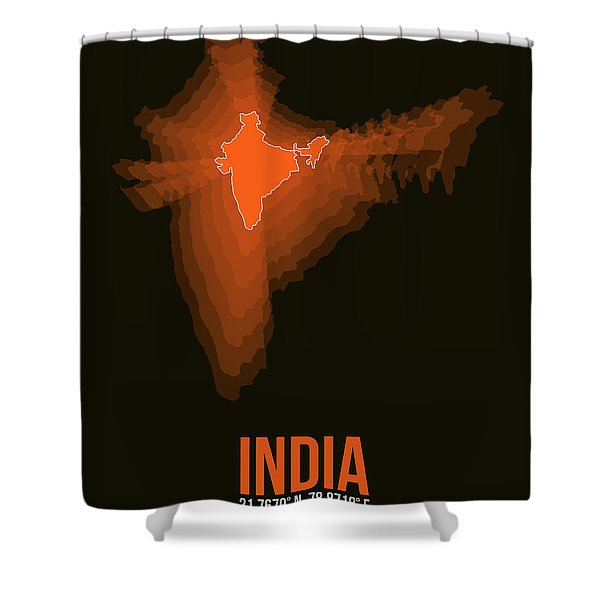 India Radiant Map 1 Shower Curtain