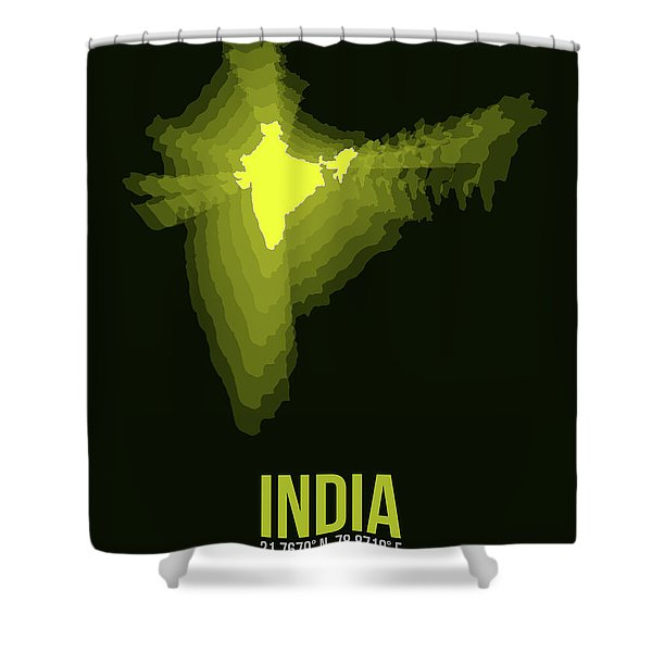 India Radiant Map 2 Shower Curtain