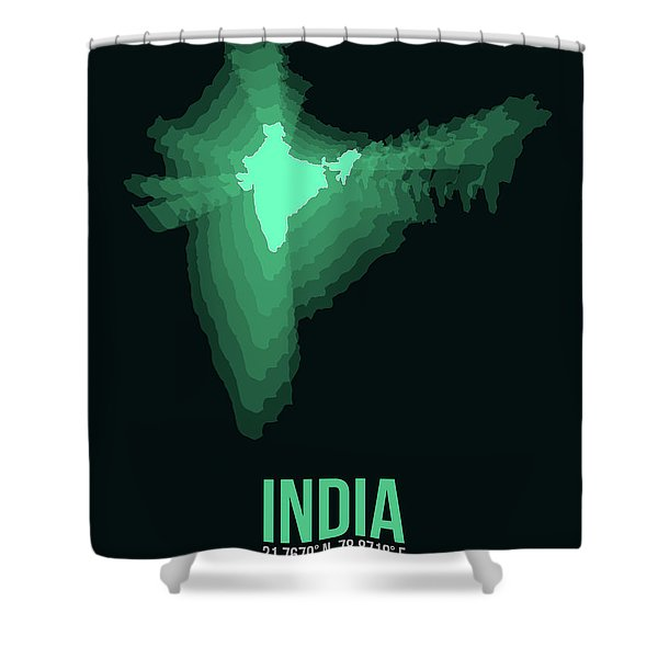 India Radiant Map 3 Shower Curtain