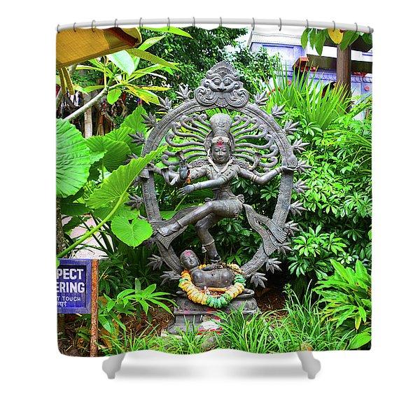 Indian Deity Statue Shower Curtain