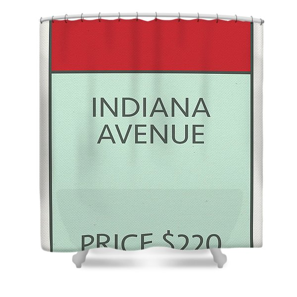 Indiana Avenue Vintage Retro Monopoly Board Game Card Shower Curtain