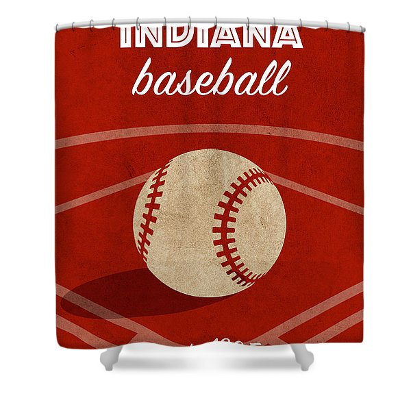 Indiana Baseball College Sports Team Retro Vintage Poster Series Shower Curtain