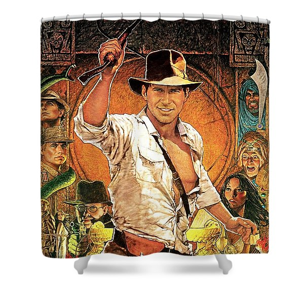 Indiana Jones And The Raiders Of The Lost Ark Shower Curtain