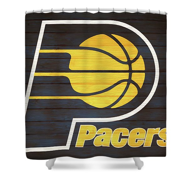 Indiana Pacers Barn Door Shower Curtain