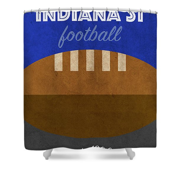 Indiana State College Football Team Vintage Retro Poster Shower Curtain