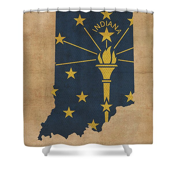 Indiana State Flag Map Founded Date Shower Curtain