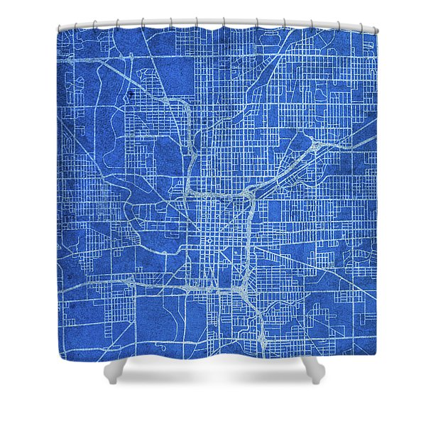 Indianapolis Indiana City Street Map Blueprints Shower Curtain