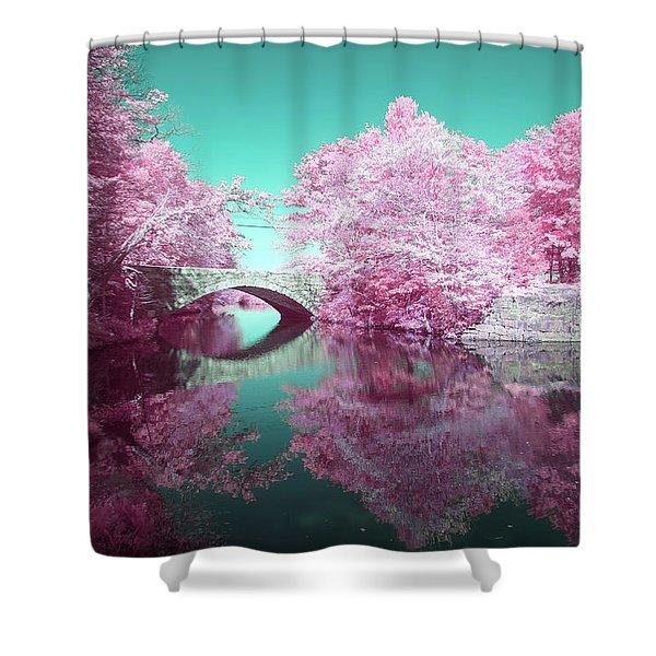 Infrared Bridge Shower Curtain