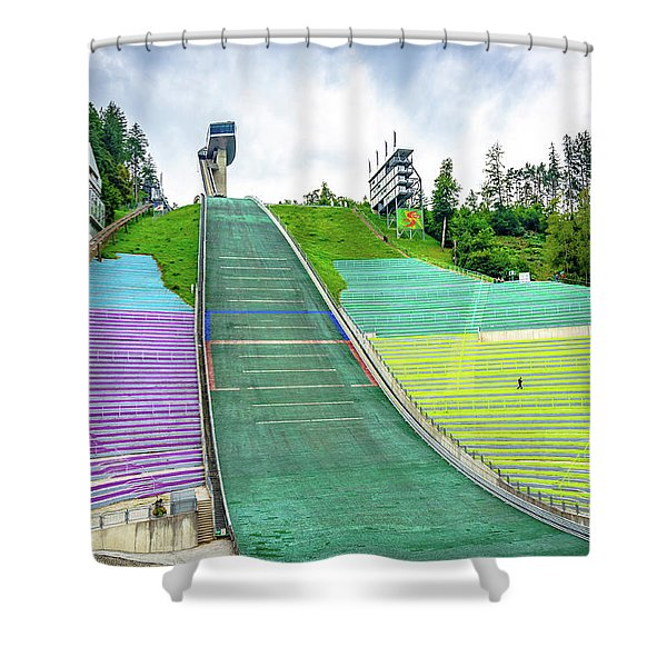 Innsbruck Olympic Stadium Shower Curtain