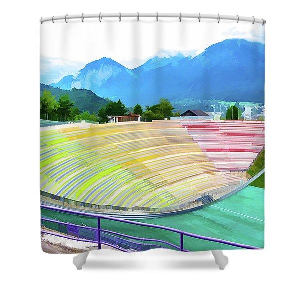 Innsbruck Olympic Stadium II Shower Curtain