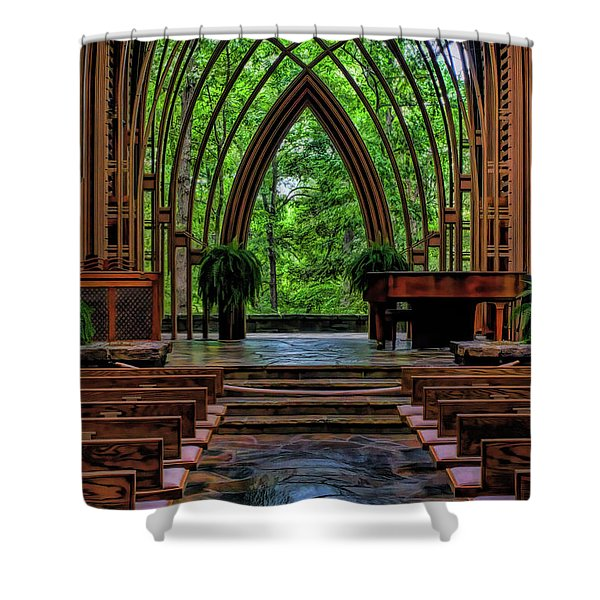 Inside The Chapel Shower Curtain
