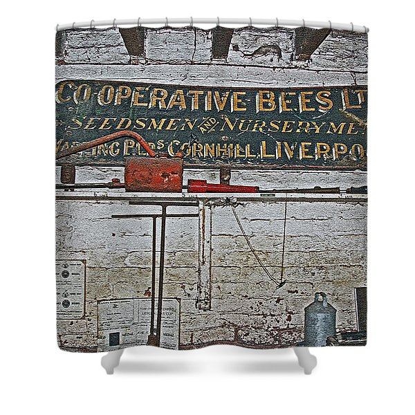 Inside The Man Cave. Shower Curtain