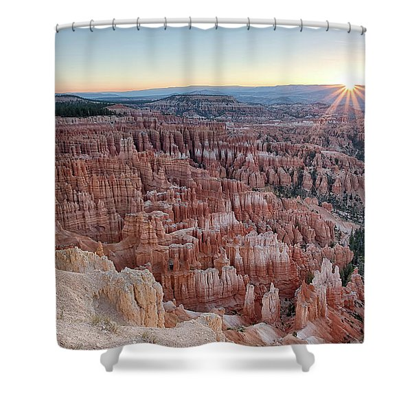 Inspiration Point Sunrise Bryce Canyon National Park Summer Solstice Shower Curtain