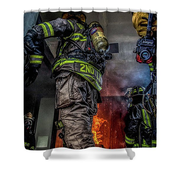 Interior Live Burn Shower Curtain