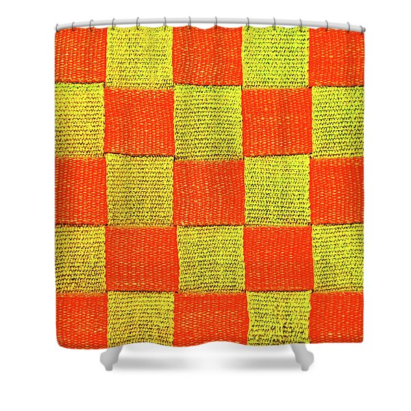 Interlaced Canvas Straps 1 Shower Curtain