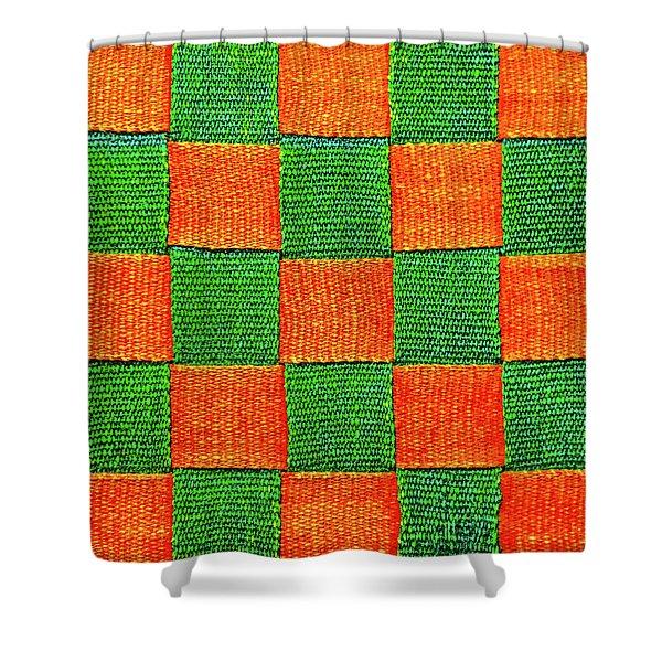 Interlaced Canvas Straps 3 Shower Curtain