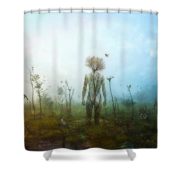 Internal Landscapes Shower Curtain