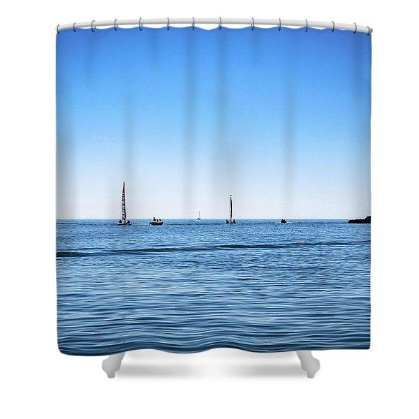 Into The Atlantic Ocean Shower Curtain