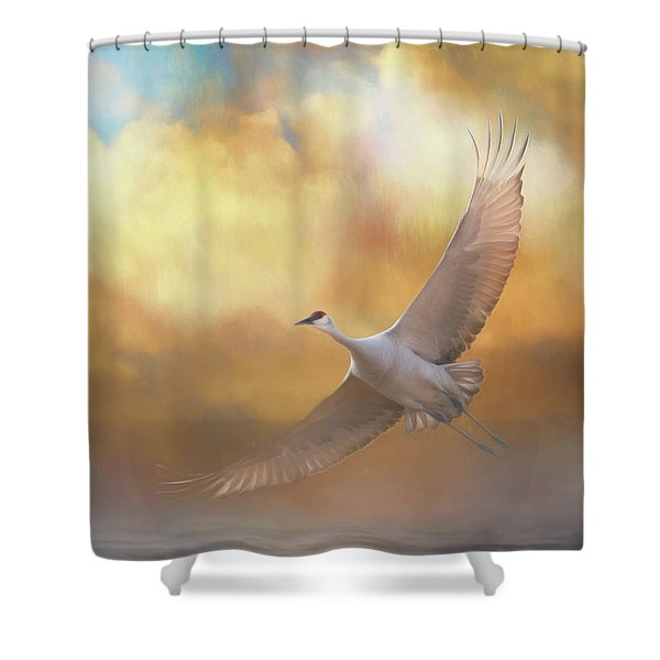 Into The Clouds Shower Curtain