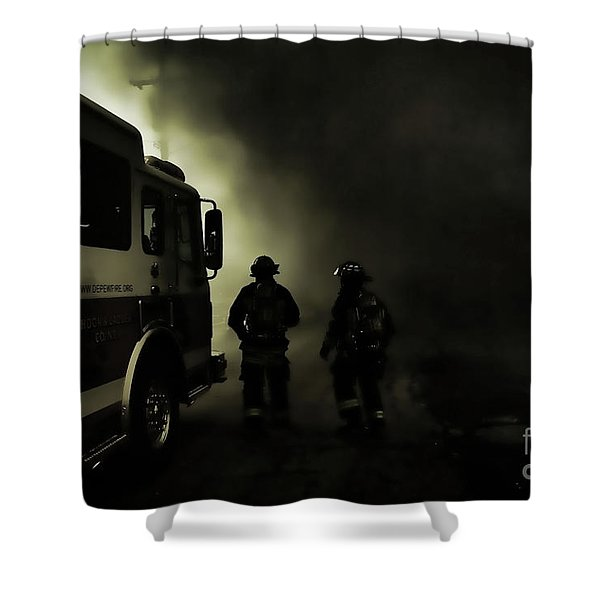 Into The Fight Shower Curtain