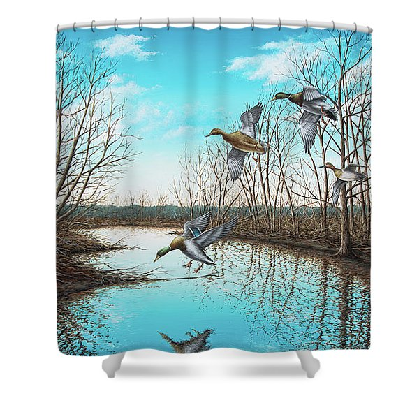 Intruder Shower Curtain