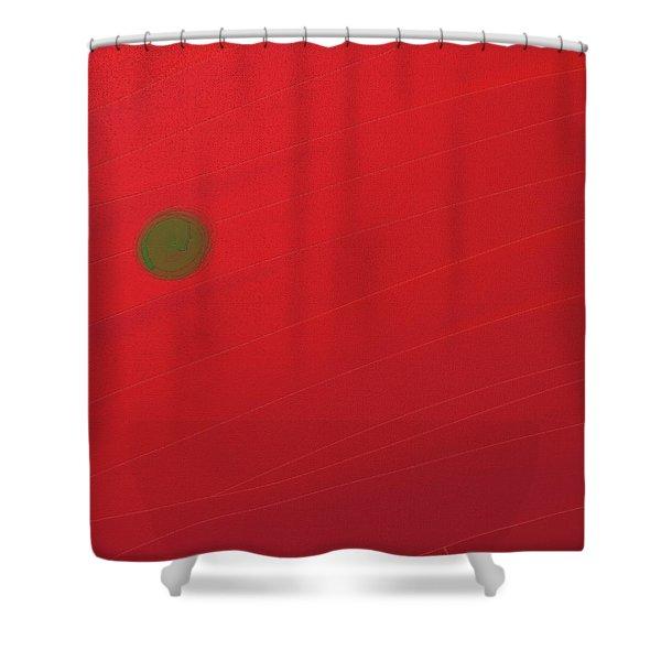Inverse Sunset Shower Curtain