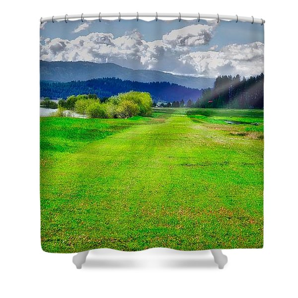 Inviting Airstrip Shower Curtain