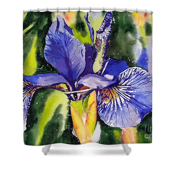 Iris In Bloom Shower Curtain