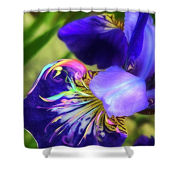 Iris Osirus Shower Curtain