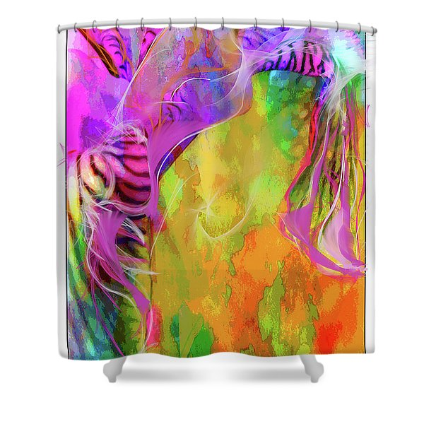 Iris Psychedelic  Shower Curtain