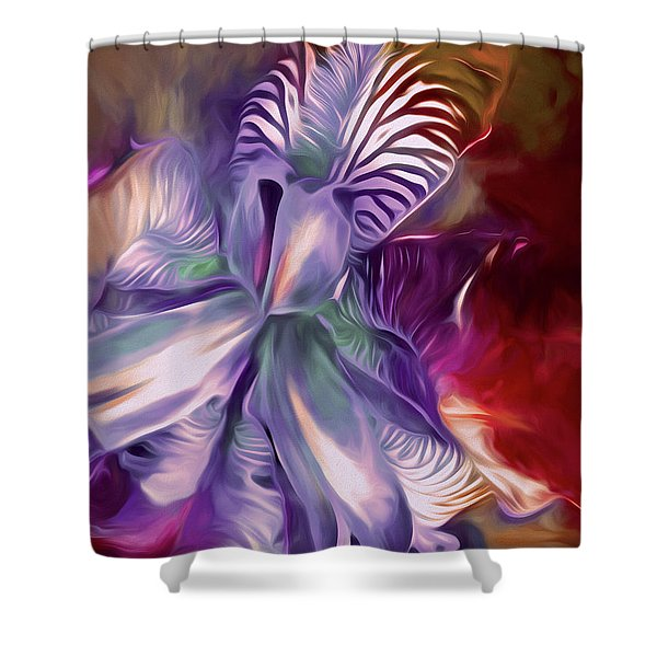 Iris Splendor 12 Shower Curtain