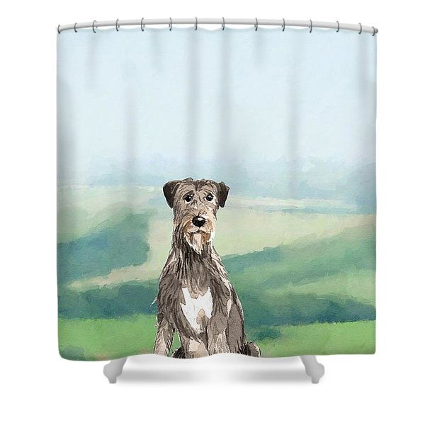 Irish Wolfhound Shower Curtain