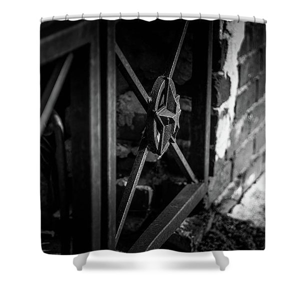 Iron Gate In Bw Shower Curtain