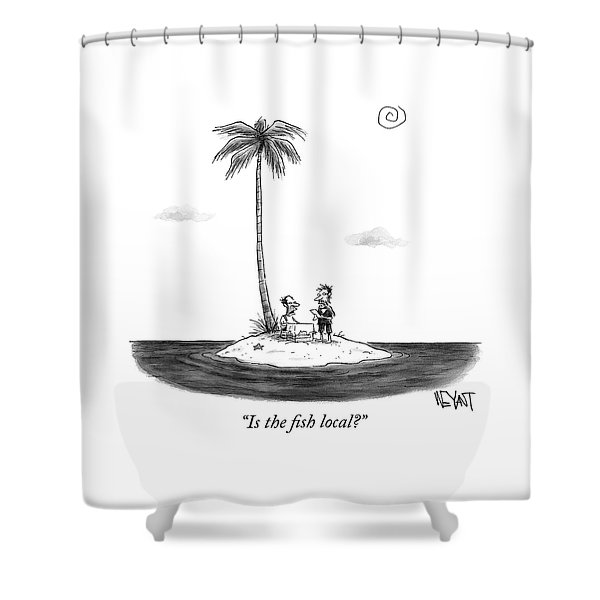 Is The Fish Local Shower Curtain