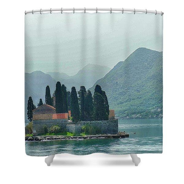 Island Church Of St George Shower Curtain