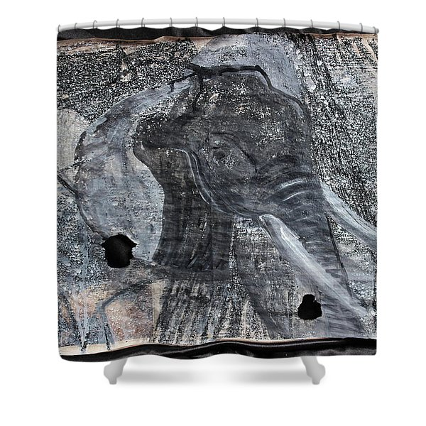 Isn't There Always An Elephant That No One Can See Shower Curtain