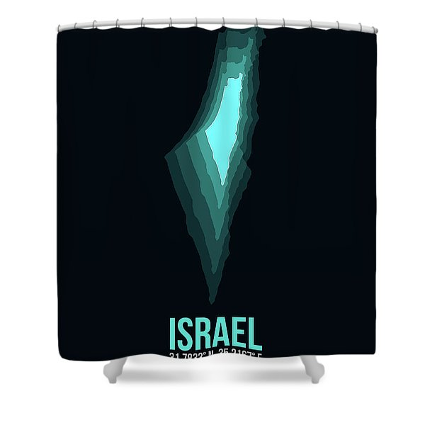 Israel Radiant Map 1 Shower Curtain