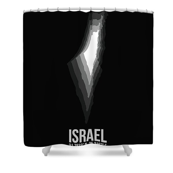 Israel Radiant Map 3 Shower Curtain