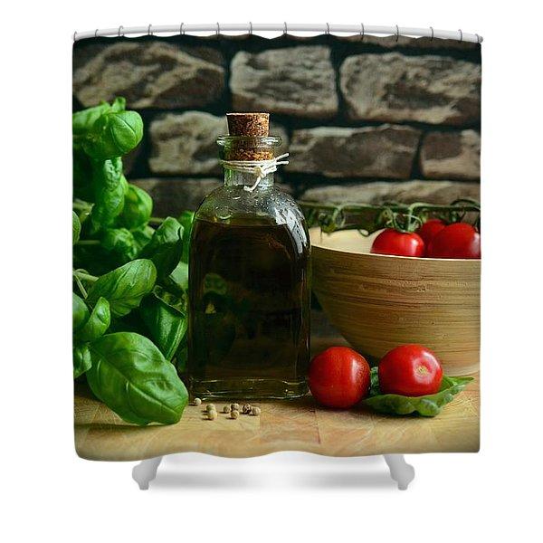 Italian Ingredients Shower Curtain