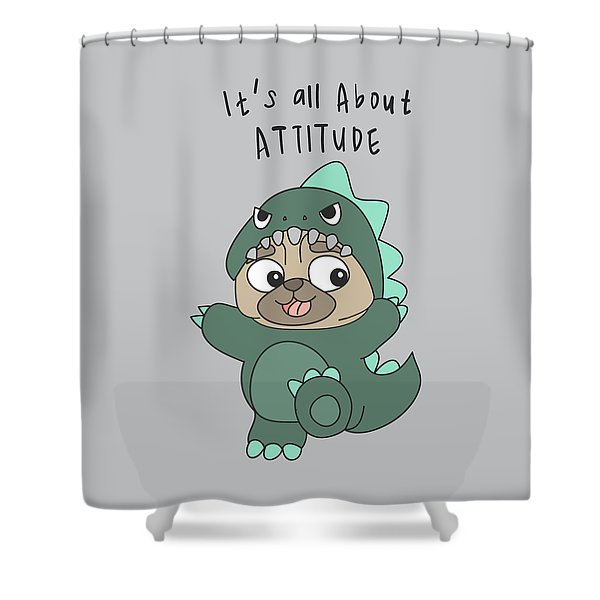 It's All About Attitude - Baby Room Nursery Art Poster Print Shower Curtain
