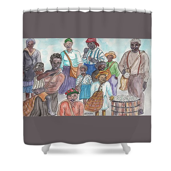 It's Cotton Picking Time At The Spangler Farm In South Alabama Shower Curtain