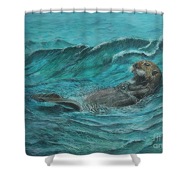 It's My Otter Day Off.....sea Otter Shower Curtain
