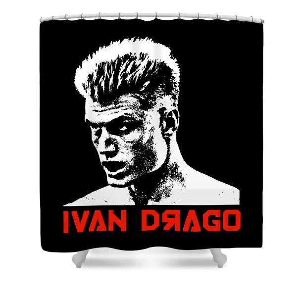 Ivan Drago Pop Art Shower Curtain