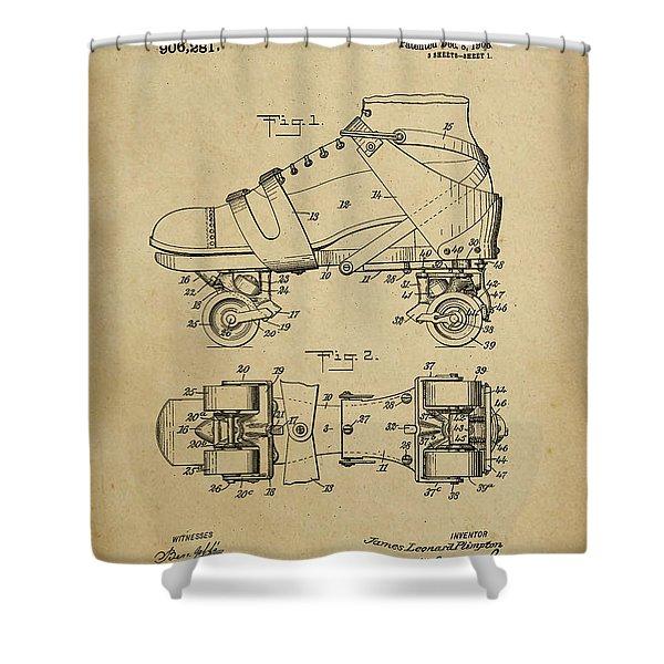 J. L. Plimpton, Roller Skate, Patented Dec.8,1908. Shower Curtain