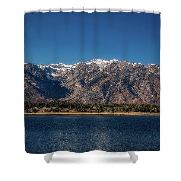 Jackson Lake Wyoming Shower Curtain