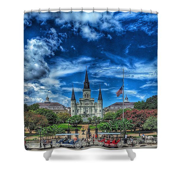 Jackson Square Nola Shower Curtain