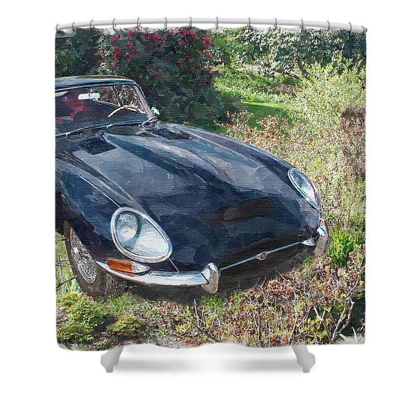 Jaguar E Type Shower Curtain
