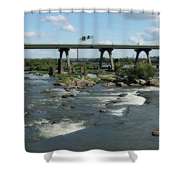James River Rapids Shower Curtain