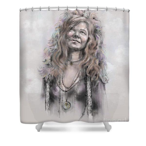 Janis Joplin Shower Curtain