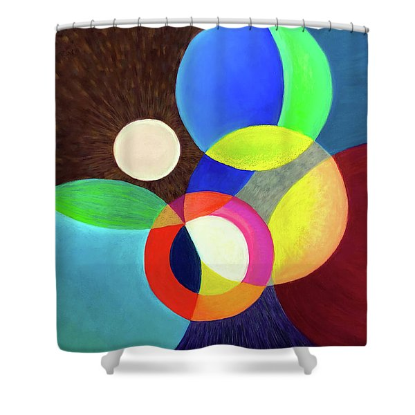 Japanese Lanterns Shower Curtain